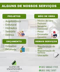 Trabalha com colaboradores treinados e motivados, atendendo um sistema que opera dentro da Alencar Engenharia Construcao Eng Civil Fortaleza Ceara Home Facebook