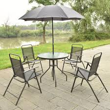 set of folding chairs. 6 PCS Patio Garden Set Furniture 4 Folding Chairs Table With Umbrella Gray New HW52116-in Sets From On Aliexpress.com | Alibaba Group Of E