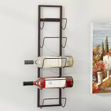 image of wall mount wine rack 12 bottles stainless steel wine rack bar with wall