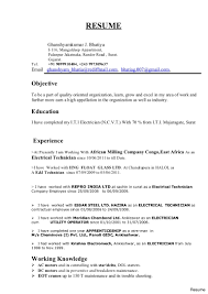 Electrical Technician Sample Resume Electrician Resume Format Ideas Collection Captivating Industrial 8