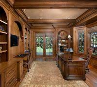 home office decor brown. Rustic Office Decor Home Traditional With Dark Wood Floor Woodwork  Brown Roman Shades