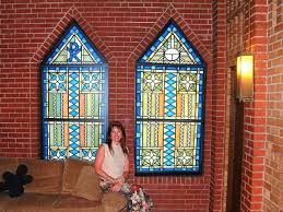 fake stained glass windows make fake stained glass window treatments
