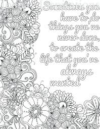 Large Print Coloring Pages For Adults With Words Adult Quotes Swear