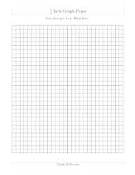 Inch Grid Paper Math Practice Your Skills With This