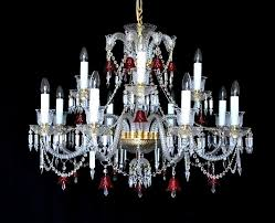 red baccarat chandelier 8 arms