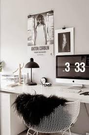 Decorating small home office Rustic Lushome Black And White Decorating Ideas For Home Office Designs