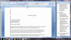 Corr-50-32-Modified Block Style Business Letter - Youtube