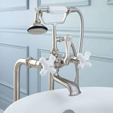 cover for bathtub faucet. freestanding telephone tub faucet, supplies \u0026 drain - brushed nickel cover for bathtub faucet e