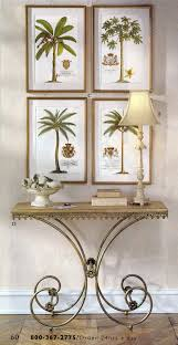 Palm Tree Decor For Bedroom Set Of 4 Ehret Palm Tree Prints Hanging Over A Console Table All