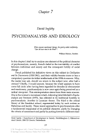 psychoanalysis and ideology springer inside