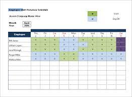 Call Center Shift Schedule Spreadsheet Scheduling Template