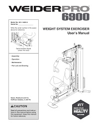 Weider Pro 6900 System 14922 Users Manual Manualzz Com