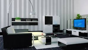 Cheap simple Living Room Design with Black and White Color cool black and white  living room ideas