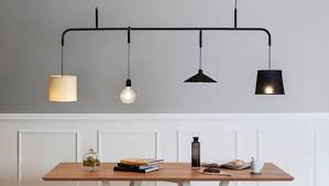 formabilio s vialattea chandelier hanging with variety of lampshades