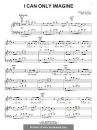 megalovania trumpet sheet music i can only imagine mercy me for voice and piano or guitar by