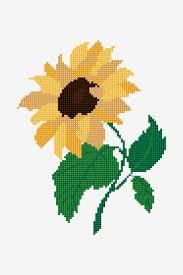 Sunflower Pattern Free Cross Stitch Patterns Dmc