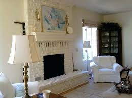 white brick fireplace eclectic living room with white brick fireplace with mantel shelf and white wall white brick fireplace
