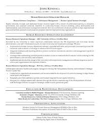 free human resources operations manager resume example