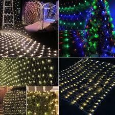 net lights fairy string curtain mesh xmas party ceiling lights decor