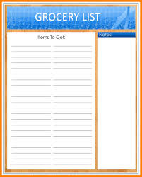 grocery list template printable 14 blank grocery list templates job apply letter