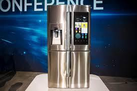 Huge Refrigerator Samsungs New Fridge Lets You Instagram Spy On Food