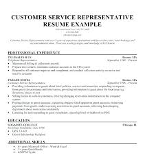 Sample Resume Of A Customer Service Representative Sample Fascinating Sample Customer Service Resume