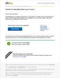 New Invoices Ebay
