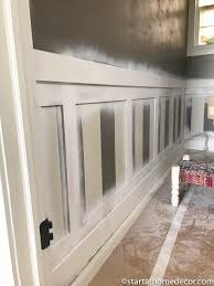 wainscoting. DIY Wainscoting | Start At Home Decor Woodwork Wall Bathroom