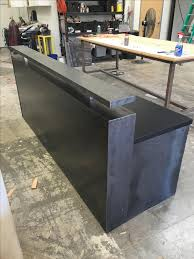 44 black steel memphis reception desk