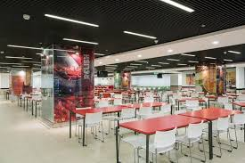 office cafeteria. Cafeteria - Oracle Hyderabad Office