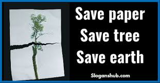 Save paper save earth