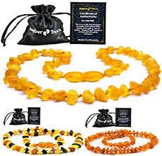 Raw Baltic Amber Teething Necklace (Unisex) - Anti ... - Amazon.com