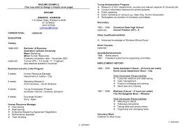 Resume Template High School Student Australia Resume Template