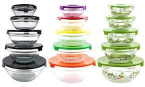 inspiration glass storage bowl with lid food container set tremendous good home idea 1 pyrex snap