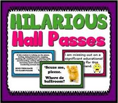 Hall Passes For School Hall Passes School Pinterest School Classroom And High School