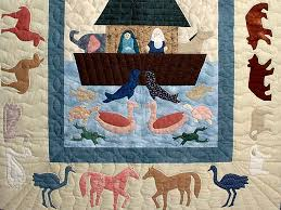 Noahs Ark Quilt -- magnificent made with care Amish Quilts from ... & ... Noahs Ark Applique Crib Quilt Photo 3 ... Adamdwight.com