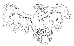 Legendary Pokemon Coloring Pages Moltres Coloringstar