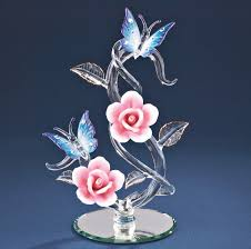 glass erflies rose vine