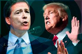 Image result for pictures of trump and james comey