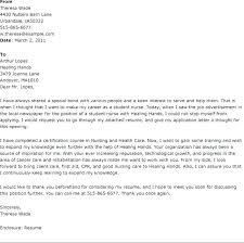 Example Of Nursing Cover Letters Cover Letter Examples For Nursing Examples Of Nursing Student Cover