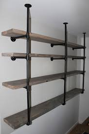 ergonomic storage shelves another diy steel pipe industrial steel