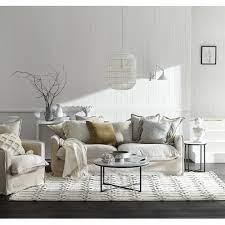 3 seater linen slipcover sofa temple