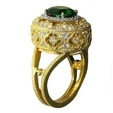 Stambolian Design Stambolian Tourmaline Diamond Gold Open Work Ring
