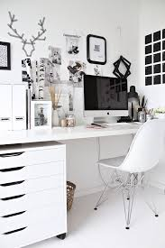 white office decor. Stylish Office, Offices, Home Black And White Office Decor W