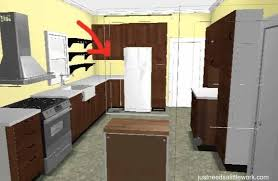 refrigerator is just too close to the corner to make the counter space useable this