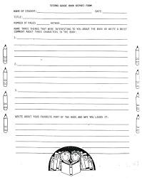 4Th Grade Book Report Template Grade Book Report Template 3 4Th ...