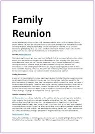 Solicitation Latter Family Reunion Solicitation Letter Sample Template