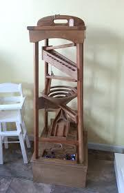 wooden marble run toy wood marble pyramid run tower maze machine glass ball roller track children wooden marble run toy