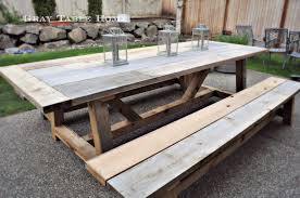 restoration hardware inspired table and bench set 5 2