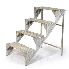 Wooden Ladder Display Stand Wooden Four Step Plant Display Stand The Lucky Clover Trading Co 23
